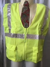 2XL ARMOUR CREST  Class 2 High Visibility Safety Vest Reflective Strips Pockets