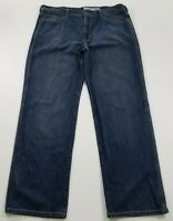 DKNY Men's Straight Leg Denim Jeans 38 X 32 Blue Medium Wash Zipper Fly Pockets