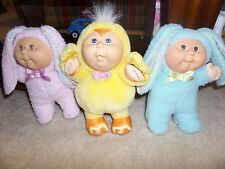 Cabbage Patch Kids Dolls Lot of 3 Easter Plush