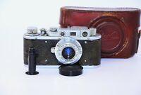 Rare Zorki-1 VINTAGE USSR Copy Leica Film Camera w/s lens industar-22 EXC