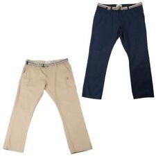 Pantalones de hombre chinos color principal azul 100% algodón