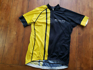 New Women's Pro Cycling Jersey FS CLUB Yellow Black Voler Large or 2XL SS  L