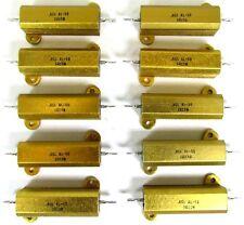 10 New RCL AL-50 1 Ohm 3% 50W Aluminum Shell Case Wirewound Power Resistors