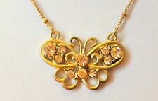 Gold Coloured Butterfly Necklace