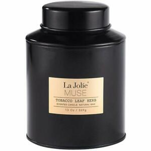 Scented Candle -- La Jolie Muse -- BEST SMELLING -- Premium -- Tabaco Leaf Scent