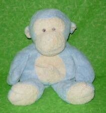 Ty Pluffies Blue DANGLES MONKEY Stuffed Animal Sewn Eyes 2006 RARE