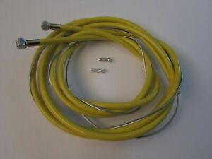 SUITABLE REPLACEMENT YELLOW BRAKE CABLE SET TO FIT RALEIGH CHOPPER MK3