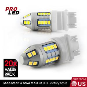 3157 3156 Xenon White Turn Signal Blinker Corner LED Light bulbs x 10 sets