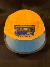 Vintage Blockbuster Video Blue & Yellow Elastic Back Painters Cap Hat- New!
