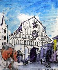 CROATIA Trip / travel the Pope Jean-Paul II Vatican Envelope PA395
