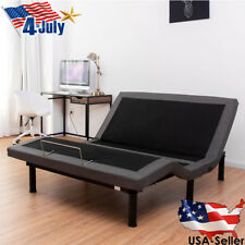 Queen Electric Bed Frame Power Adjustable Base Massage Zero Gravity Remote US...