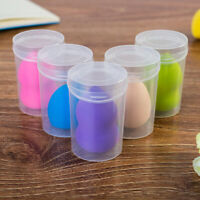 Transparent Powder Puff Sponge Earring Case Cosmetic Storage Box Travel Case