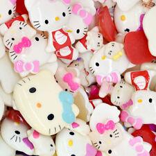 20pcs Mixed Kitty Cat Resin Cabochon Cartoon Flatback Craft Decoration Embellish