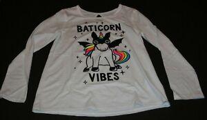 New Justice Girls Halloween Top Tee Baticorn Unicorn 8 10 12 14 16 18 20 Plus yr