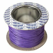Model Railway/Railroad Layout/Point Motor Wire - 100m Roll 1/0.6mm 3A Violet T48