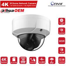Dahua OEM 8MP 4K Dome Outdoor Network Camera 2.7-12mm Lens Onvif H.265 4x Zoom