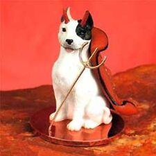 Pit Bull Terrier White Devil Dog Tiny One Figurine Statue