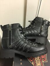 Harley-Davidson Tamia made in USA black leather boots women's size 7M  D85292