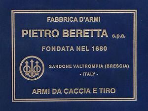 PISTOL GUN PRESENTATION CUSTOM DISPLAY CASE BOX LABEL for BERETTA 92  m9 81 1934