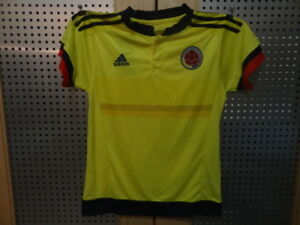 Colombia home soccer uniform 2015/16 for kids 10-12 years old