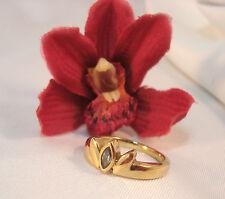 Süßer Pierre Lang Ring mit Steinchen vergoldet Fingerring / az 817
