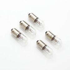 5 x 6.3V 150mA 0,15A 1W BA9s / Birne Lampe / Lamp Bulb / Bajonett Skalenlampen