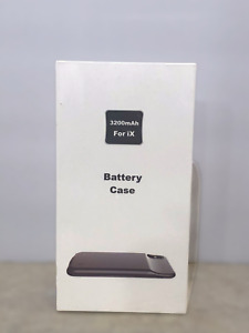 Battery Case Compatible iPhone X 3200 mAh Black New