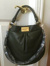 NWT 100% Authen Genuine Leather Marc Jacobs Classic Q Hillier, Moss (Dark Green)
