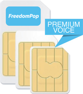 FreedomPop GSMA FREE Monthly 10 Minutes 10 Messages 25MB Data GSM Sim Kit 3-in-1