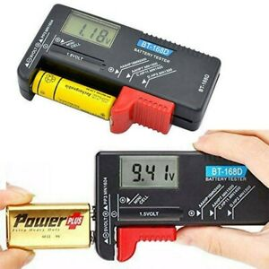 LCD Universal Battery Tester Tool AA AAA C D 9V Button Cell Volt Tester Checker