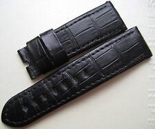 GENUINE OFFICINE PANERAI WATCH 24mm STRAP BAND BLACK ALLIGATOR LEATHER 24/22 NEW