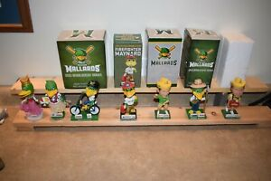 Lot of 7 Madison Mallards Baseball Bobbleheads - Firefighter, Farmer, Princess +