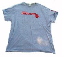 Tied Dyed Vintage Clothing Grunge Clothing Upcycled Clothing Cropped T-Shirt M Indy Indians Baseball Tee