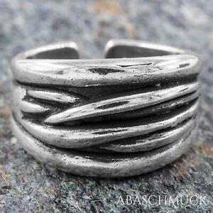 Silberring Silber 925 Ring  Verstellbar Offen R0810 massiv, breit, edel, schick