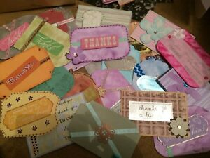 N102 - 24 X THANK YOU TOPPERS - PAPER CRAFT CARD MAKING SCRAPBOOKING