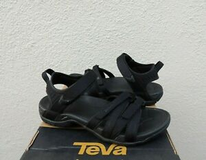 TEVA TIRRA BLACK/ BLACK STRAPPY SPORT SANDALS, WOMEN US 11/ EUR 42 ~NIB