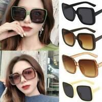 NEW Oversized Square Sunglasses Retro Vintage Fashion Eyewear Women Large Shades