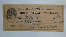$2.60 1932 Hibbing Minnesota MN Cancelled Check! First National Bank