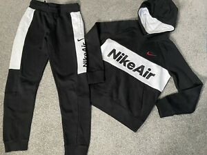 Boys Nike Air Tracksuit Joggers And Hooded Jumper Age 10-12 Years Size Medium