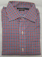 Lauren Ralph Lauren Red White Blue Check Classic-Fit Long Sleeve Dress Shirt 15