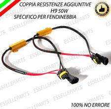 2 RESISTENZE CANBUS 50W SPEGNI SPIA PER LAMPADE A LED H9 100% NO AVARIA