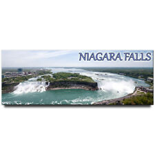 Niagara Falls panoramic fridge magnet New York state travel souvenir Canada USA