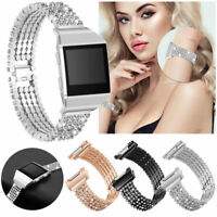 Metal Bracelet Wrist Band Rhinestone For Fitbit Ionic Smart Watch Bands Strap