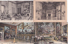 Lot de 4 cartes postales anciennes FONTAINEBLEAU palais appartements du pape