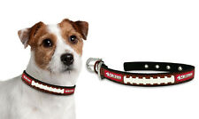 San Francisco 49ers Large Leather Lace Dog Collar [NEW] Pet Cat Lead CDG NFL