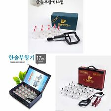 HANSOL Cupping Massage Set Vacuum Suction Pump Kit Therapy Acupuncture Multi New
