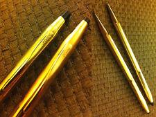 due oggetti: PENNA BIRO e PORTA MINE ANNI 70 CROSS 14Kt GOLD FILLED