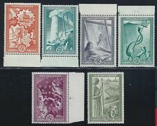 1951 Greece/Grecia, n° 575/580 ERP 6 valori MNH ** GOMMA INTEGRA