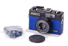 FED 50 Blue Leather Compact Lomography Camera w 38mm 1:2.8 Lens CLA EXC+
