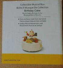 Wooderful Life Musical Box: Birthday Cake - Sankyo Movement, Real Wood - New
